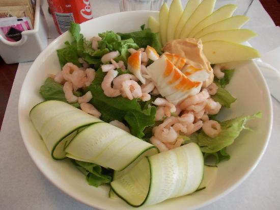 Tosca Cafe: insalata con gamberi e polpa di granchio
