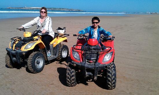 Rima Quad: Junior and me posing