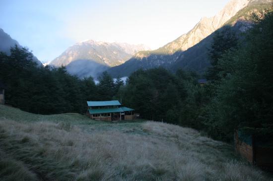 Futaleufu River Bio Bio Expeditions Camp: Kitchen and Mountains