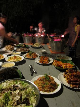Freedomland Phu Quoc Resort: a dinner spread