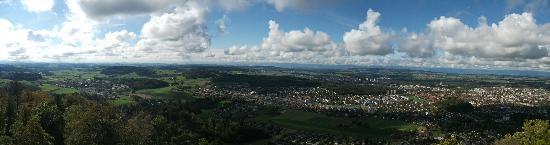 Gurten - Park im Grünen: Complete view of Bern, from the GurtenPark