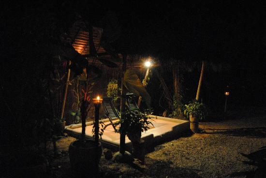 The Rose Apple Boutique Bed & Breakfast: The garden by night