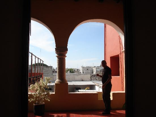 Hotel Oviedo: View from the veranda on first floor