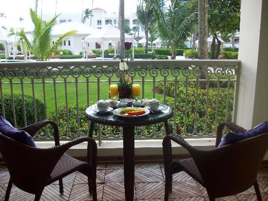 Iberostar Grand Hotel Bavaro: Room Service This morning, Coffee, fruit and Paradise :)