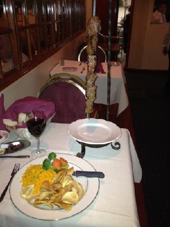 Shush Kebab With Rice And Portuguese Wine Picture Of Madeira