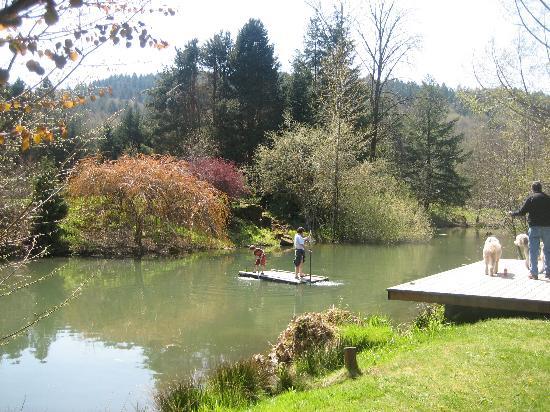 The Wayfarer Resort: Rafting on the pond