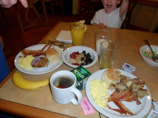 Country Inn & Suites By Carlson, Asheville Downtown Tunnel Road (Biltmore Estate): An example of the awesome breakfasts!