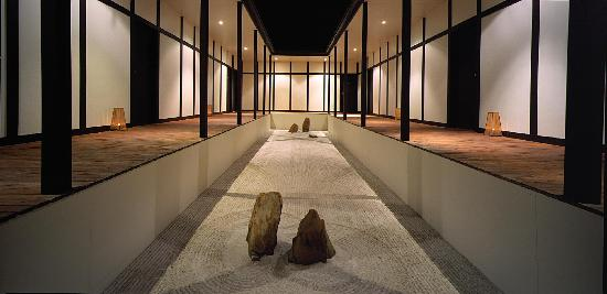 Zen garden at dusk picture of shizuka ryokan japanese for A zen salon colorado springs