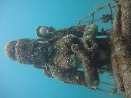 Underwater temple at Pemuteran Bay