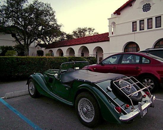 The Hacienda: Morgan parked at Hacienda