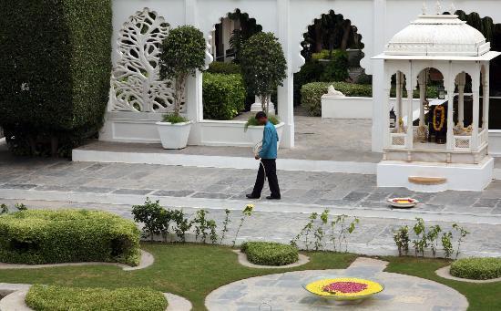 Taj Lake Palace Udaipur: Scaring the birds