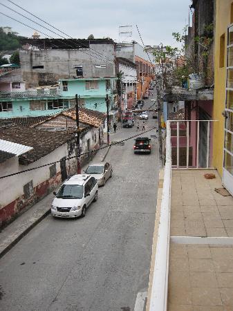 Papantla, México: looking toward the center of town from the balcony