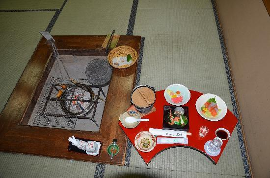 Keizantei: 夕食、最初に用意されいいる分