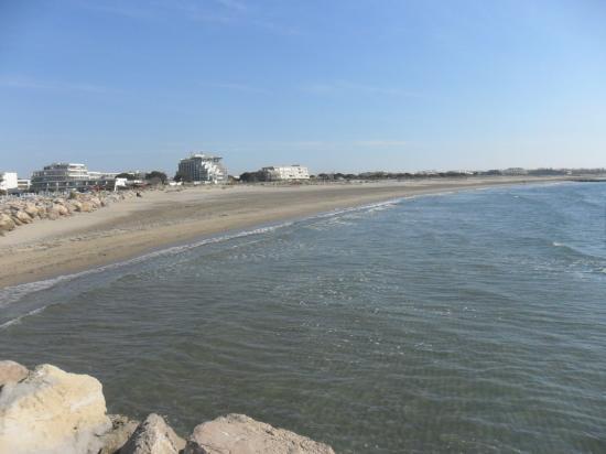 Hôtel Les Bains de Camargue : la plage vue resto 3