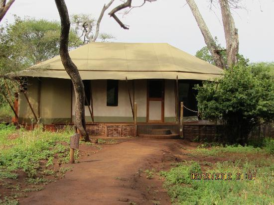 Sanctuary Swala: Close up view of our lodge.