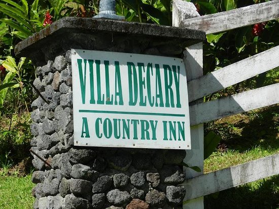 Villa Decary: Look for this sign - easy to miss