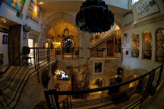 Jaffa, Israel: Open space in the center of the building