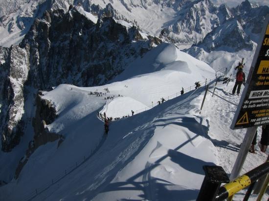 Vallee Blanche: the ridge (arete)