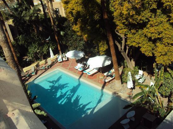 Les Jardins de la Medina: la piscina vista dalla camera