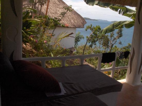 AL FARO Cosmio Hotel Palawan: View from private pavilion
