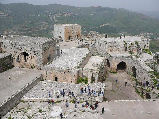 Tartus, Szíria: Vista castello da una torre