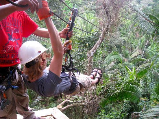 Belize Magnificent Mayan Tours: Zip Line on Hummingbird Hwy