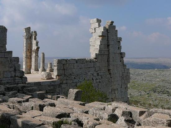 Saint Simon Citadel (Sam'an Citadel, Qalat Samaan) : Parte laterale esterna
