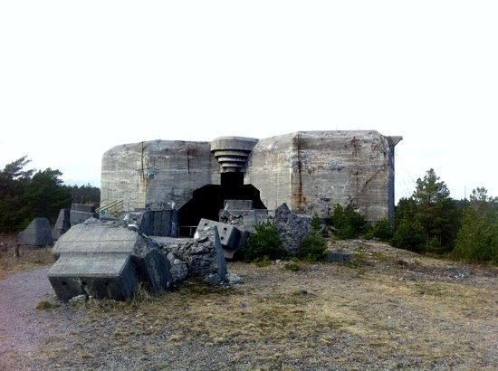 Kristiansand, Norvégia: The Kasemate! built to house a bigger cannon