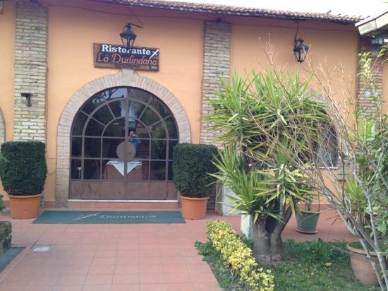 La Durlindana : l'ingresso del ristorante