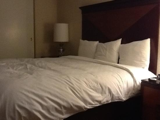 Renaissance Chicago North Shore Hotel: nice bed, plain room