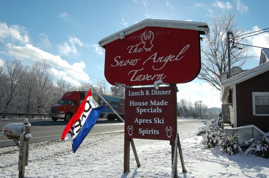 The Snow Angel Tavern: sign