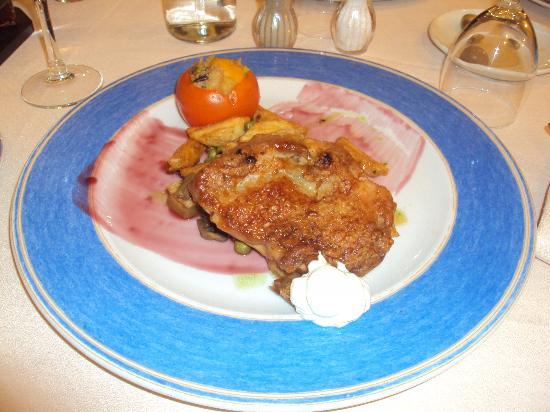 Hotel Villa de Priego de Cordoba: cena: entrecotte de pollo