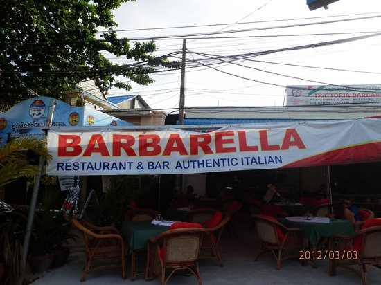 Trattoria Barbarella-Pasta e Pizza: Welcome Barabella..Best Italian restaurant in Sihanouk