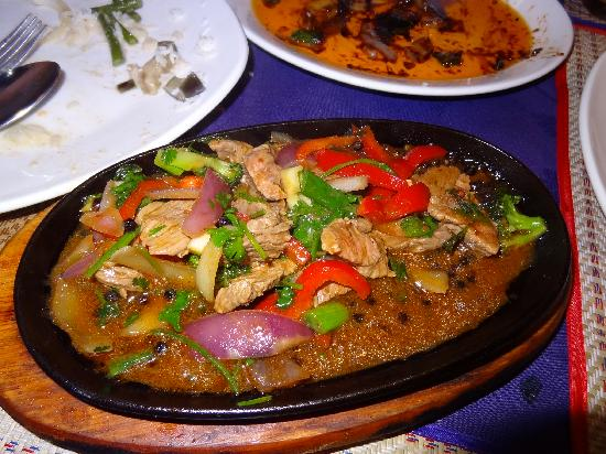 Sawadee Thai Taste: beef dish with peppercorns