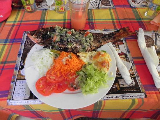 Poisson grill chez liline picture of chez liline deshaies tripadvisor - Restaurant poisson grille paris ...