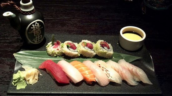 SushiSamba sampler (requested no shellfish due to allergy)