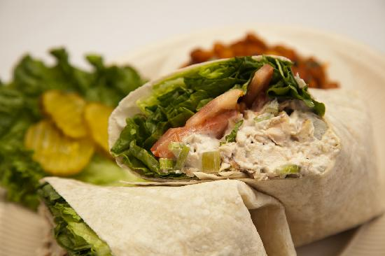 Nate's Cowboy Cafe: Smoked Chicken Salad Wrap