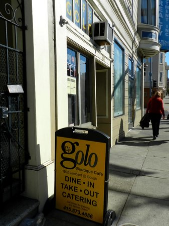 Outside Cafe Golo on Lombard in the Marina District