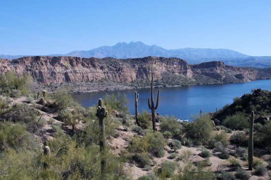 Saguaro Lake Guest Ranch: A view of Saguaro lake from horseback.