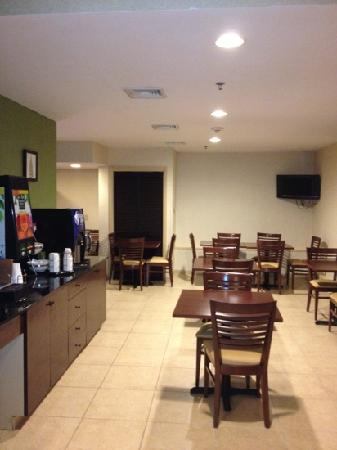 Sleep Inn & Suites: breakfast area... hot breakfast with good selection of items