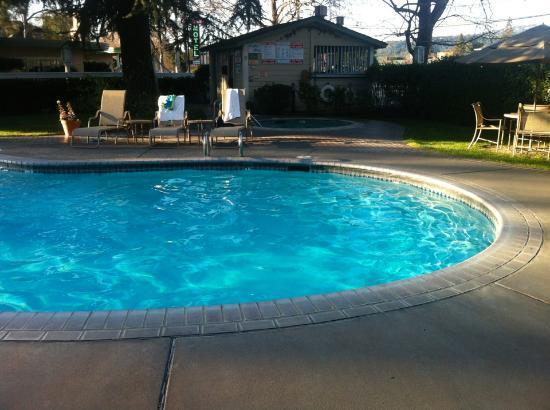 El Bonita Motel: Swimming pool and jacuzzi