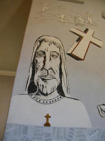 New Norcia Museum & Art Gallery: The Jesus Graffiti in the church