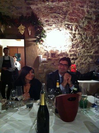 Rezzato, Italy: saletta con camino