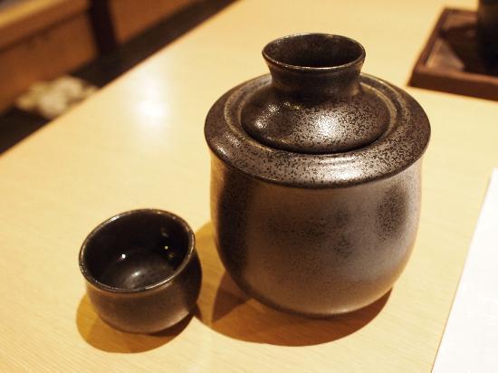 Route Inn Grantia Himi Wakura no Yado : 日本酒熱燗、冷めないようにお湯で・・・・・