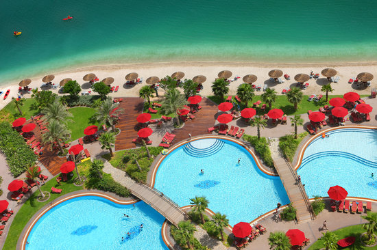 Khalidiya Palace Rayhaan by Rotana: 200 meters of sandy beach and one of the biggest outdoor pool in Abu Dhabi.