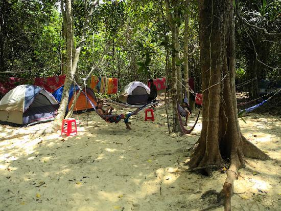 Adventure Charters Cambodia Day Trips: Hammock chill-out area