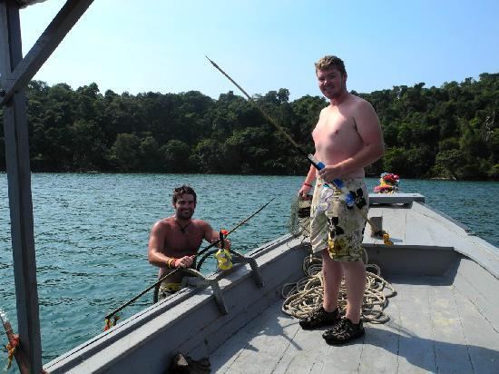 Adventure Charters Cambodia Day Trips: Spear fishing