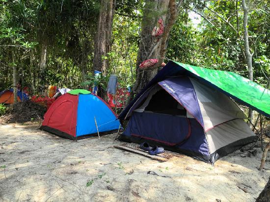 Adventure Charters Cambodia Day Trips: Camp site