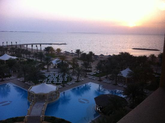 InterContinental Doha: Sunrise from my hotel room.  The pool and beach are great!