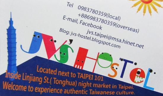 JV's Hostel: Die Visitenkarte